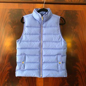 J. Crew Blue Puffer Vest